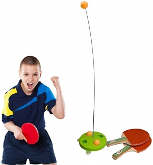 ihocon: CiaoStore Table Tennis Trainer with 2 Racket & 3 Practice Bal 乒乓球練習器, 含球拍2個及球