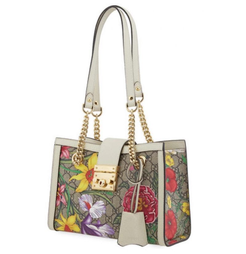ihocon: Gucci Ladies Padlock GG Flora Shoulder Bag包包