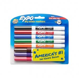 EXPO 低氣味細白板筆 8枝 $5.74(原價$11.49)