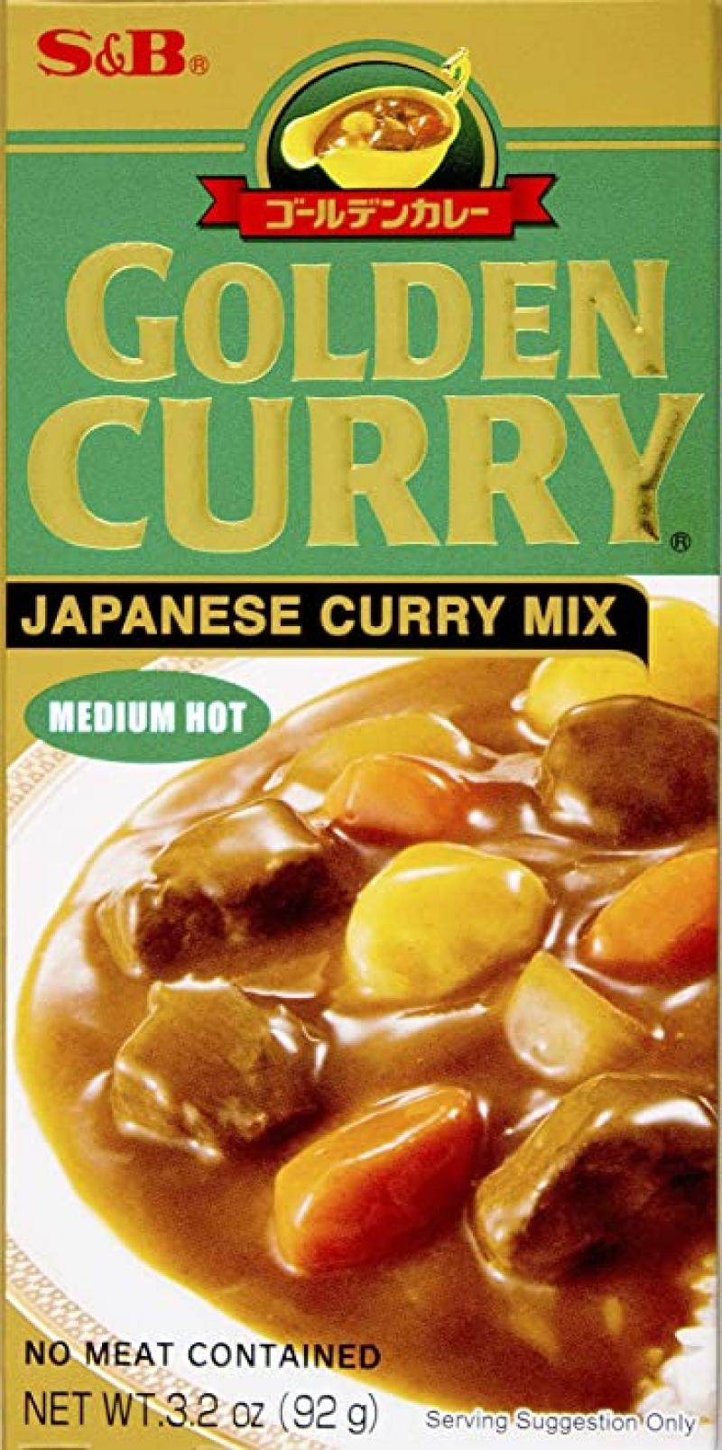 ihocon: S&B, Golden Curry Sauce Mix, Medium Hot, 3.2 oz 日式咖哩
