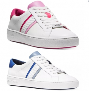 ihocon: MICHAEL Michael Kors Women's Irving Striped Lace Up Sneakers 女士運動鞋