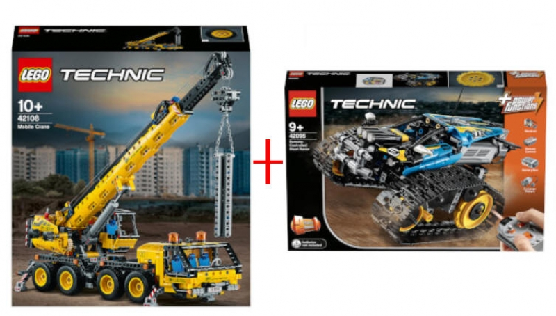 ihocon: LEGO Technic: Remote-Controlled Stunt Racer Set (42095) + LEGO Technic: Mobile Crane Truck Toy (42108)