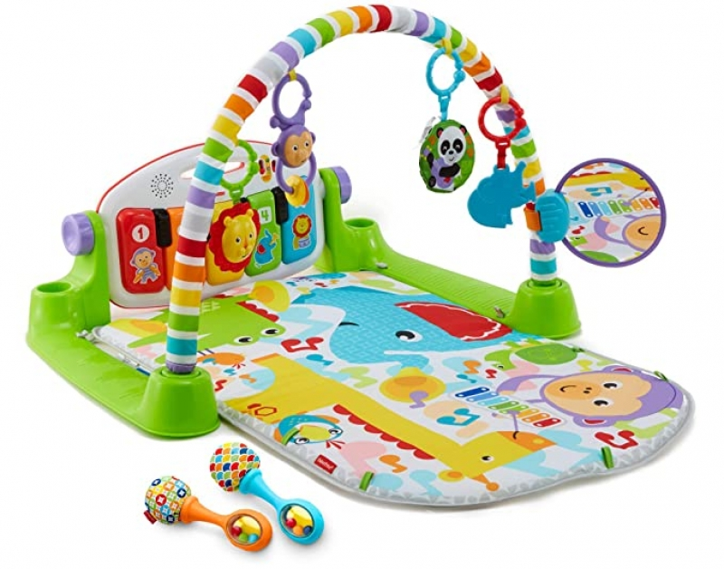 ihocon: Fisher-Price Deluxe Kick & Play Piano Gym & Maracas 嬰兒遊戲墊