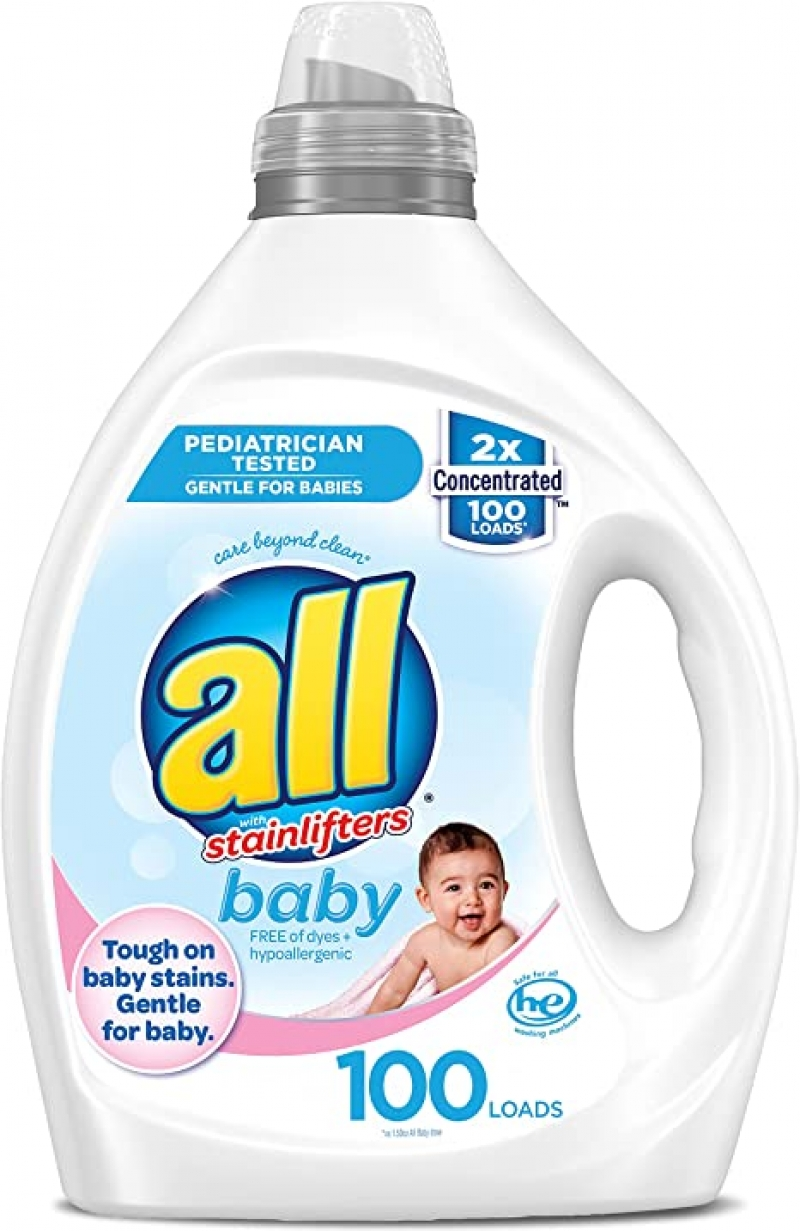 ihocon: All Liquid Laundry Detergent, Gentle for Baby, Unscented and Hypoallergenic, 2X Concentrated, 100 Loads 2倍濃縮嬰兒洗衣精