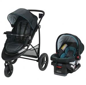 ihocon: Graco Modes 3 Travel System, Essentials LX, Sapphire 嬰兒推車+汽車座椅