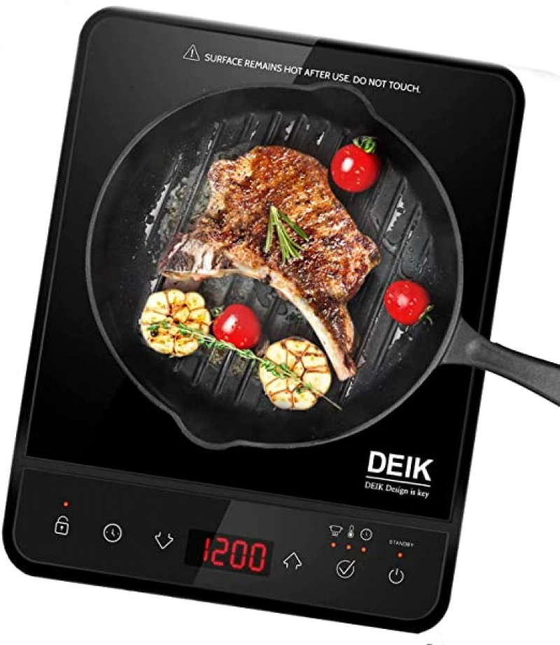 ihocon: Deik 1800W Full Touchscreen Interface Induction Cooker with 10 Temperature & 15 Power Level Settings電磁爐