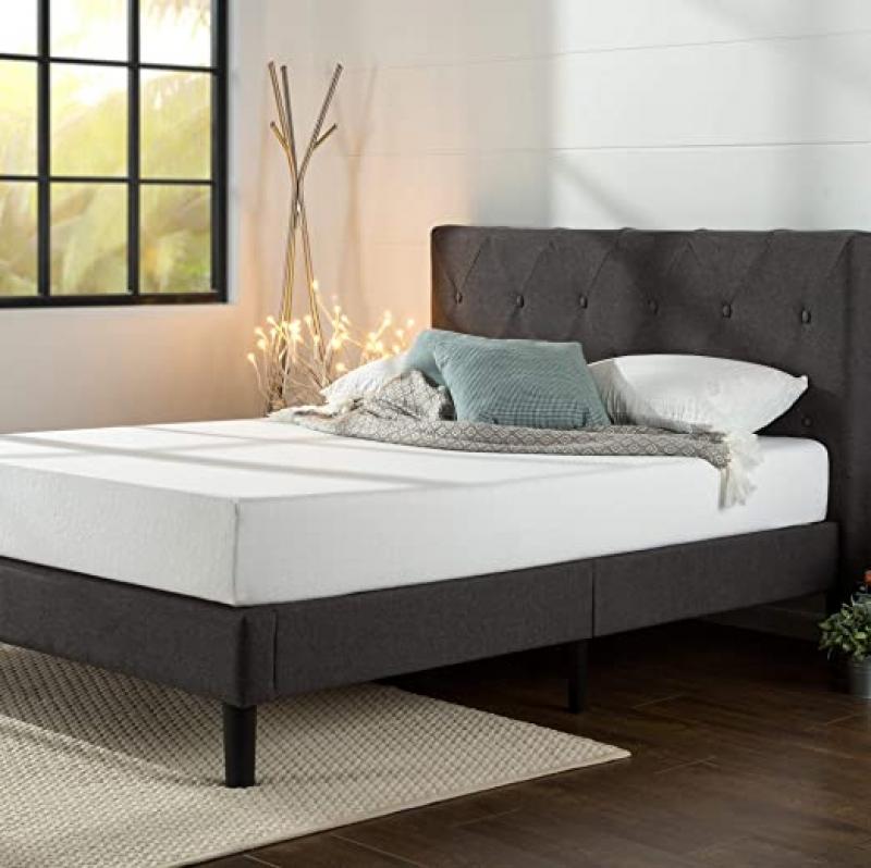 ihocon: Zinus Shalini Upholstered Platform Bed, Queen 床架