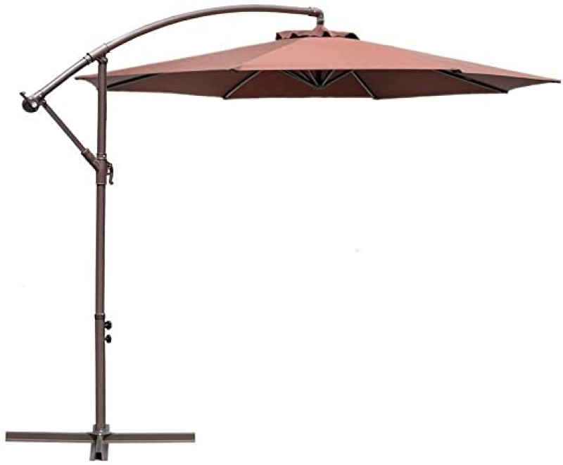 ihocon: Le Papillon 10-ft Offset Hanging Patio Umbrella 遮陽大傘