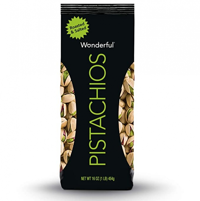 ihocon: Wonderful Pistachios, Roasted and Salted, 16 Ounce Bag 鹽烤開心果