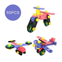 ihocon: GEDIAO 55 Pieces Wooden Nuts and Bolts Activity Working Construction Sets木製組合積木