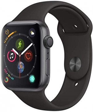 ihocon: Apple Watch Series 4 (GPS, 44mm) Smartwatch with Black Sport Band (Space Gray Aluminium Case)