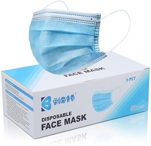 ihocon: Bigox Face Mask Disposable Earloop Blue 50Pcs 一次性口罩