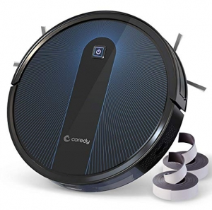 ihocon: Coredy Robot Vacuum Cleaner, 1600Pa Super-Strong Suction, Boundary Strips Included, 360° Smart Sensor Protection, 吸地機器人