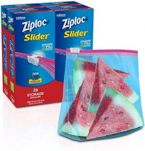 ihocon: Ziploc Slider Storage Bags, Gallon, 26 Count, Pack of 4 (104 Total Bags)滑鍊袋