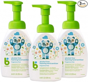 ihocon: Babyganics Alcohol-Free Foaming Hand Sanitizer, Pump Bottle, Fragrance Free, 8.45 oz, 3 Pack 無酒精,無香精泡沫洗手液