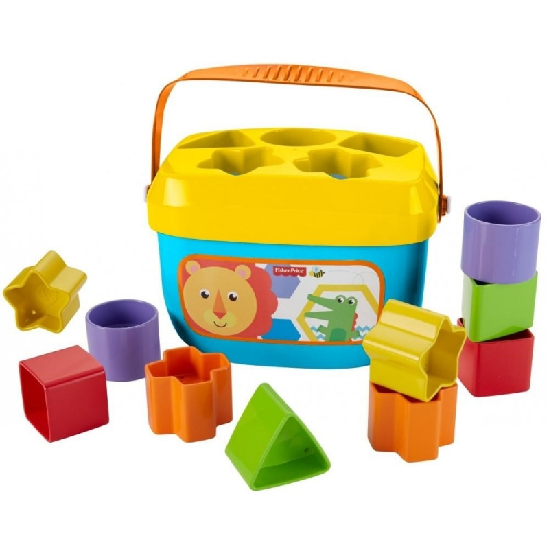ihocon: Fisher-Price Baby's First Blocks with Storage Bucket形狀辨識玩具
