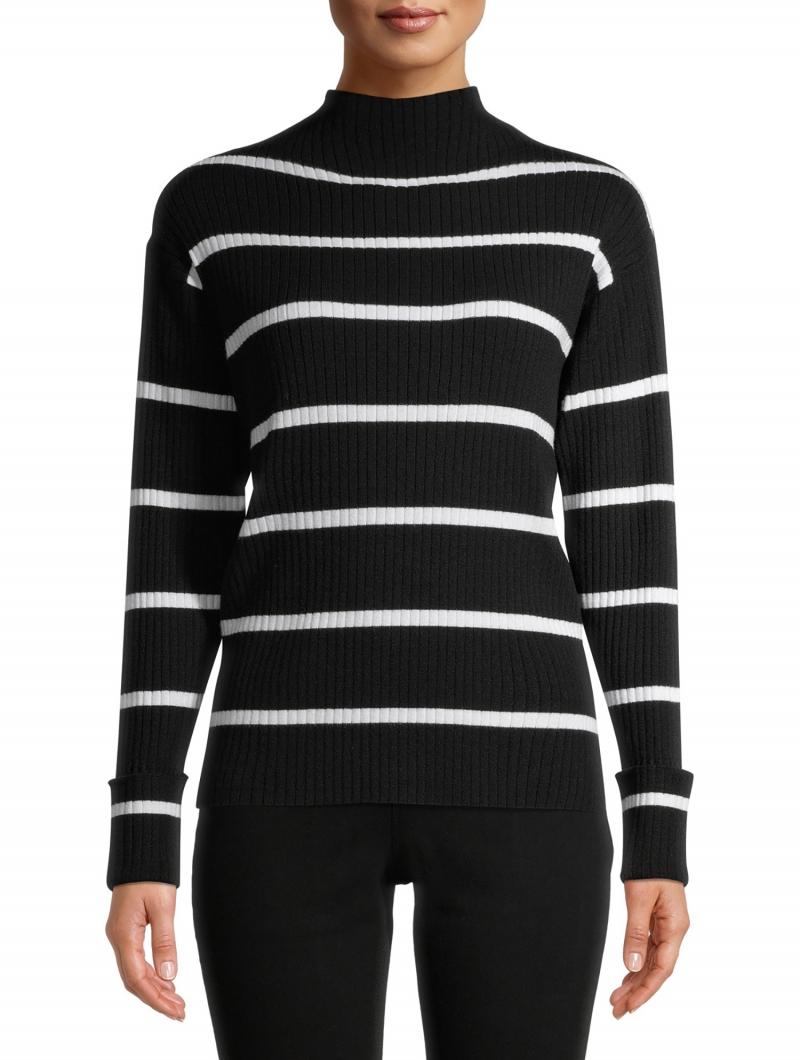 ihocon: Heart N Crush Women's Striped Mockneck Sweater 女士毛衣-多色可選
