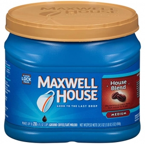 ihocon: Maxwell House House Blend Ground Coffee (24.5 oz Canister)  研磨咖啡粉