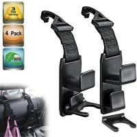 ihocon: Heroway Magic Headrest Hooks for Car,4Pack 汽車掛鉤