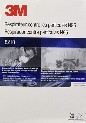 ihocon: 3M 8210 N95 Respirator, 20-Pack 口罩