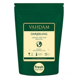 ihocon: VAHDAM, 2019 First Flush Darjeeling Tea -50 Cups (3.53oz) | Loose Leaf Black Tea 大吉嶺茶葉