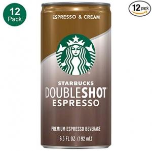 Starbucks Doubleshot, Espresso + Cream 12罐 $12.78(原價$15.98)