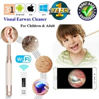 ihocon: XINYIMO 3 in 1 WiFi Visual Earwax Removal Tools for Kids 無線可視耳垢清除器