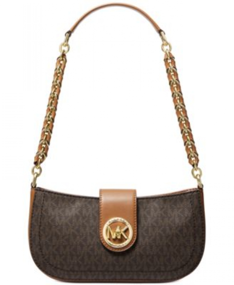 ihocon: MICHAEL Michael Kors Signature Carmen Leather Shoulder Bag  女士包包