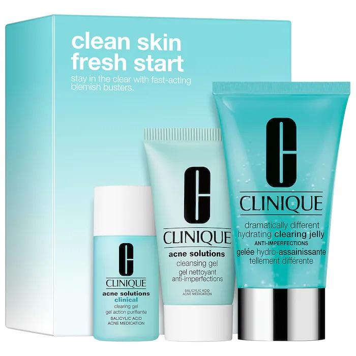 ihocon: CLINIQUE倩碧 Clean Skin, Fresh Start Acne Solutions Set青春痘清潔組