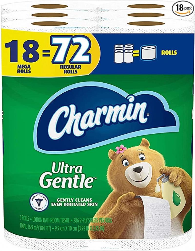 ihocon: Charmin Ultra Gentle Toilet Paper, 18 Mega Rolls = 72 Regular Rolls 廁所衛生紙
