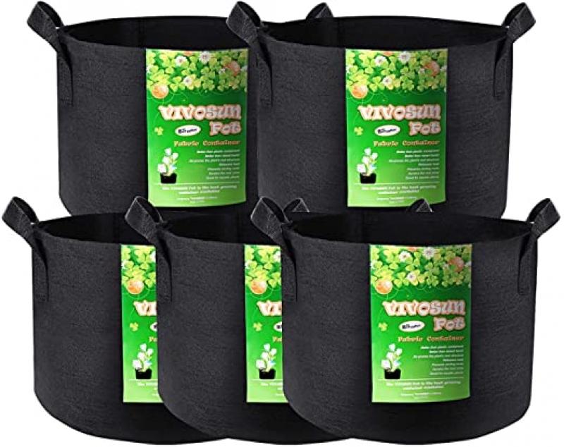 ihocon: VIVOSUN 5-Pack 25 Gallon Plant Grow Bags 25加侖植物種植袋 5個