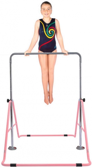 ihocon: Safly Fun Gymnastics Adjustable Horizontal Kip Bar (Pink)  可調高度體操練習架