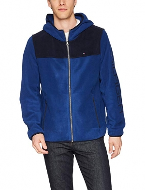 ihocon: Tommy Hilfiger Men's Hooded Performance Fleece Jacket  男士連帽夾克
