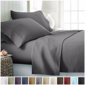 ihocon: Egyptian Comfort Hotel Luxury 4 Piece Deep Pocket Bed Sheet Set床單組-各尺寸, 多色可選