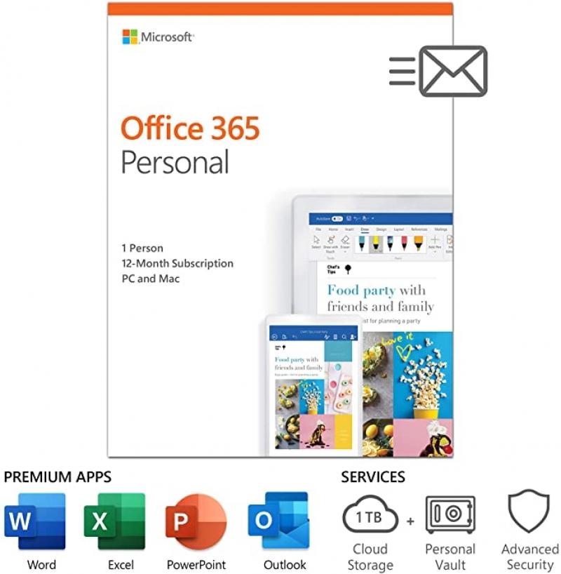 ihocon: Microsoft Office 365 Personal / 1-year subscription, 1 user, PC/Mac Key Card