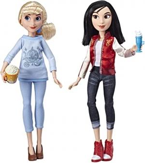 ihocon: Disney Princess Ralph Breaks The Internet Movie Dolls, Cinderella & Mulan Dolls with Comfy Clothes & Accessories 灰姑娘和花木蘭玩偶