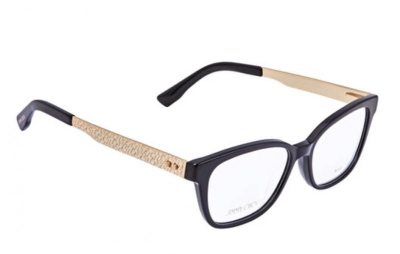 ihocon: Jimmy Choo Ladies Black, Gold-tone Square Eyeglass Frames  女士眼鏡框