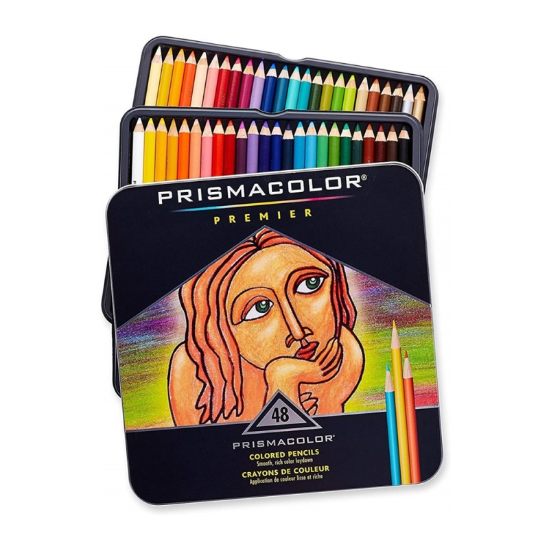 ihocon: Prismacolor Premier Soft Core Colored Pencil, Set of 48 Assorted Colors  軟芯彩色鉛筆