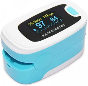 ihocon: CONTEC OLED CMS50NA Pulse Oximeter,SpO2 and PR Value Waveform Blood Oxygen,Neck/Wrist Cord 手指心率測量/血氧儀