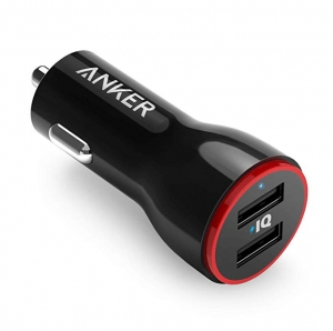 ihocon: Anker 24W Dual USB Car Charger Adapter車用雙孔充電器