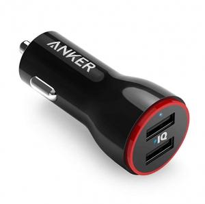 Anker 車用雙孔充電器 $6.39(原價$9.99)