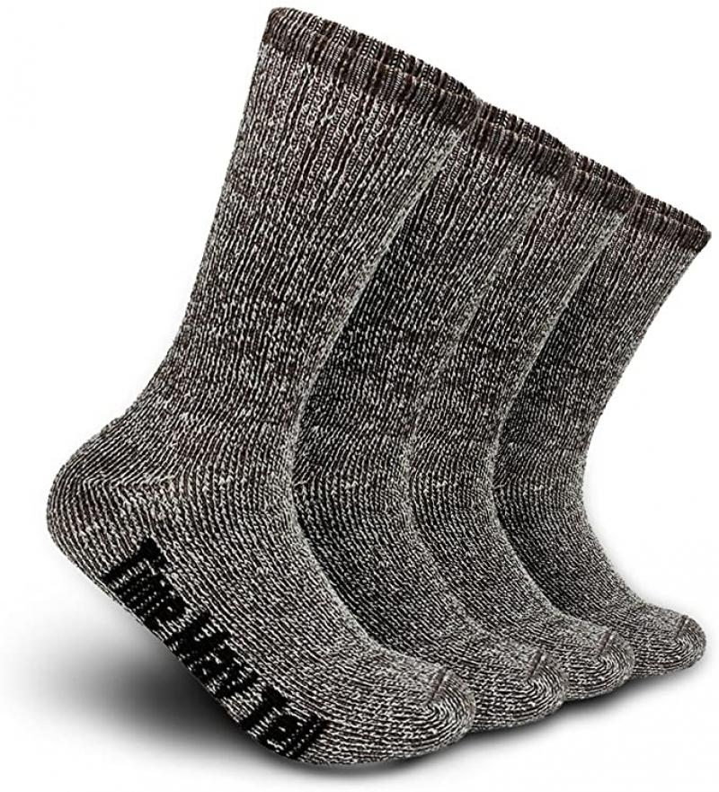 ihocon: Time May Tell Mens Merino Wool Hiking Cushion Socks 男士美麗諾羊毛登山襪2雙