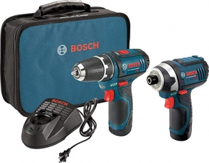 ihocon: Bosch Power Tools Combo Kit CLPK22-120 - 12-Volt Cordless Tool Set (Drill/Driver and Impact Driver) with 2 Batteries, Charger and Case 電動工具組
