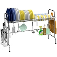 ihocon: Veckle Large Dish Rack Stainless Steel Dish Drainer 水槽瀝碗架