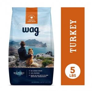 ihocon: [Amazon自家品牌]Wag Dry Dog Food Turkey & Lentil Recipe (5 lb. Bag) 乾狗糧