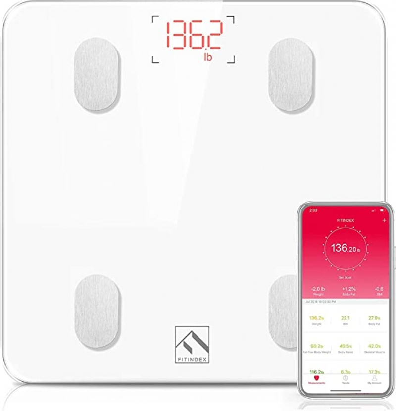 ihocon: FITINDEX Bluetooth Body Fat Scale 藍牙智能體脂體重秤