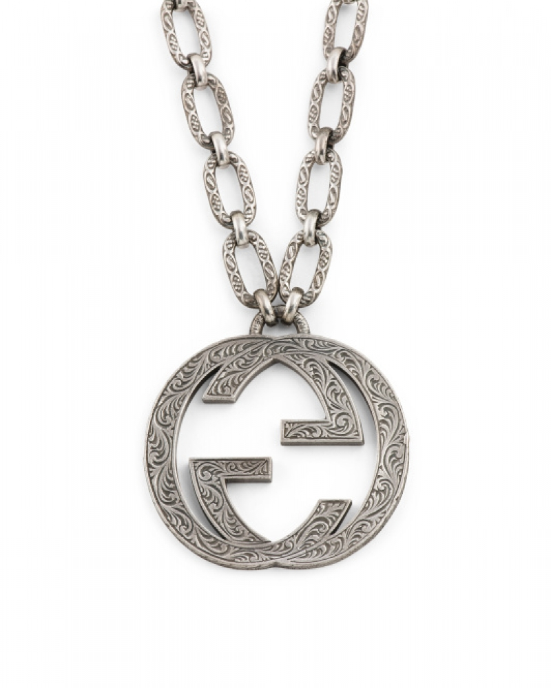 ihocon: GUCCI Made In Italy Sterling Silver Interlocking G Necklace 意大利製純銀項鍊