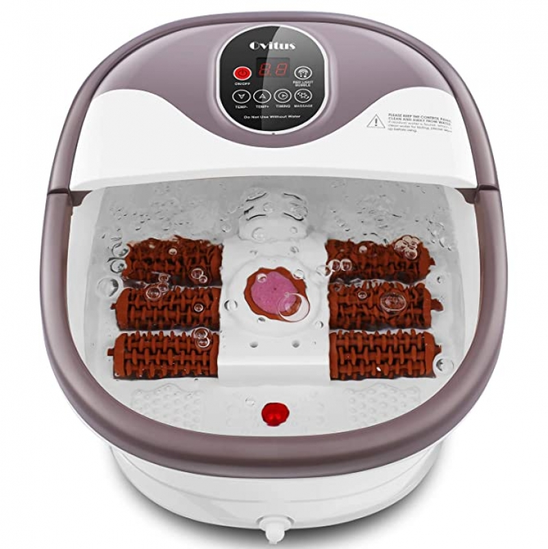 ihocon: Ovitus Foot Bath Massager with Heat 電動滾輪泡腳桶