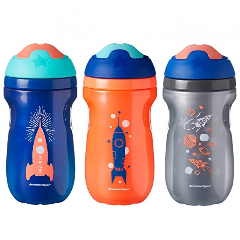 ihocon: Tommee Tippee Non-Spill Insulated Sippee Toddler Tumbler Cup, 9 Ounce, 3 Count 兒童防漏水杯