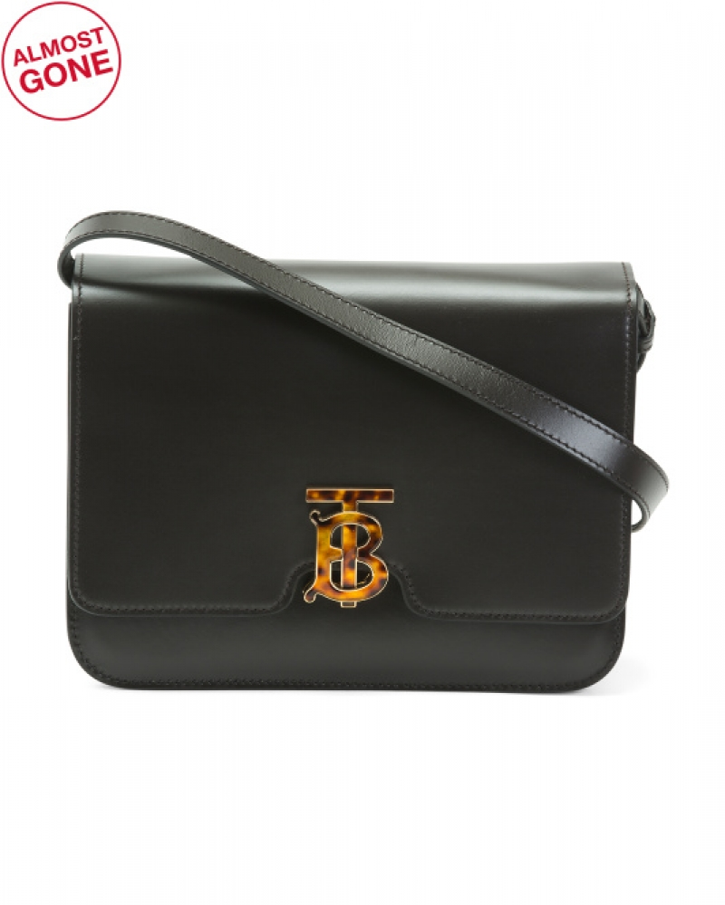 ihocon: BURBERRY Made In Italy Leather Flap Shoulder Bag 意大利製包包